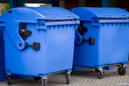 Polystyrene in recycling bins